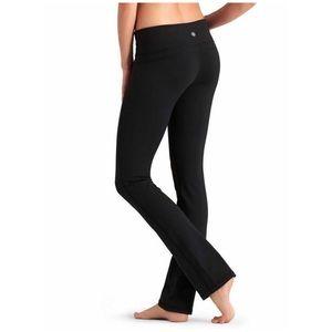 Athleta black straight up yoga pants sz Large